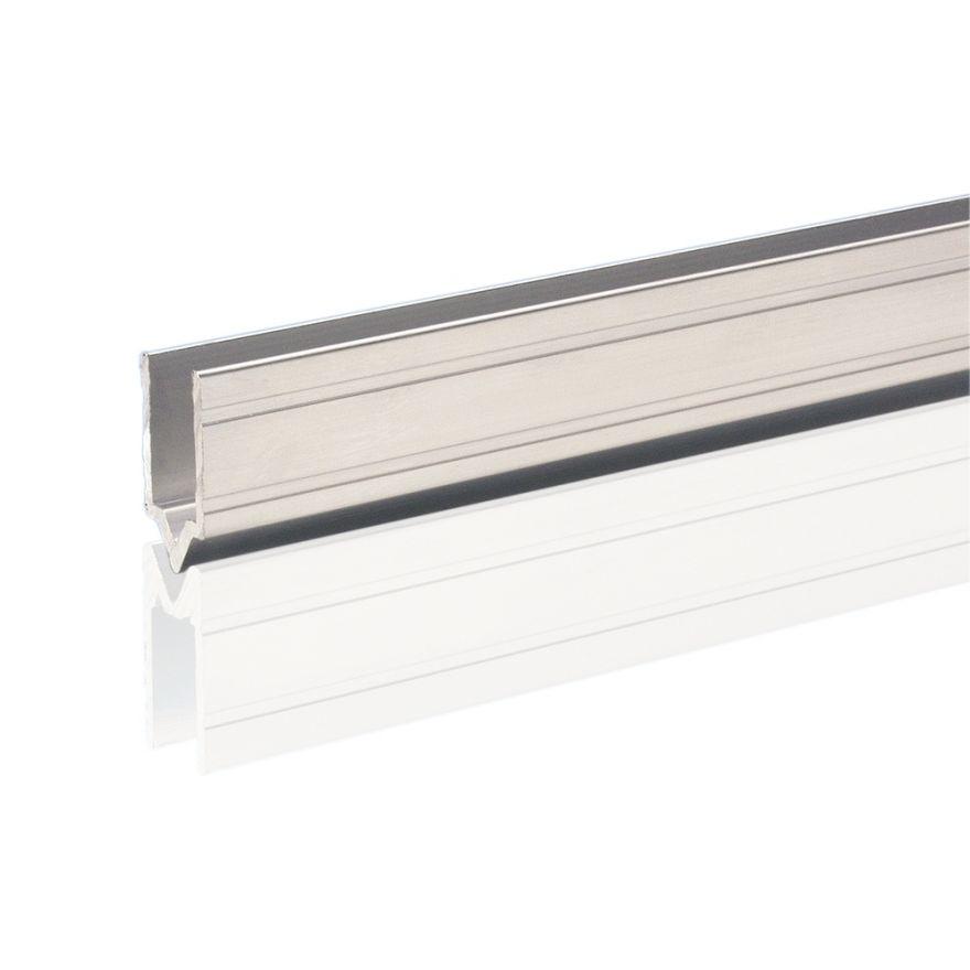 Adam Hall Hardware 6144 M - Profilo di Chiusura in alluminio maschio per Materiale da 9,6 mm