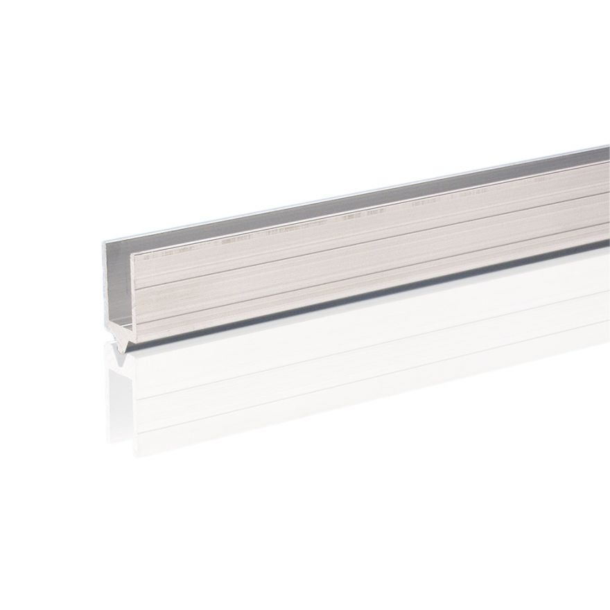 Adam Hall Hardware 6206 M - Profilo di Chiusura in alluminio maschio per Materiale da 10 mm