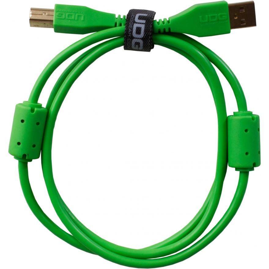 Udg U95001GR - ULTIMATE CAVO USB 2.0 A-B GREEN STRAIGHT 1M Cavo usb