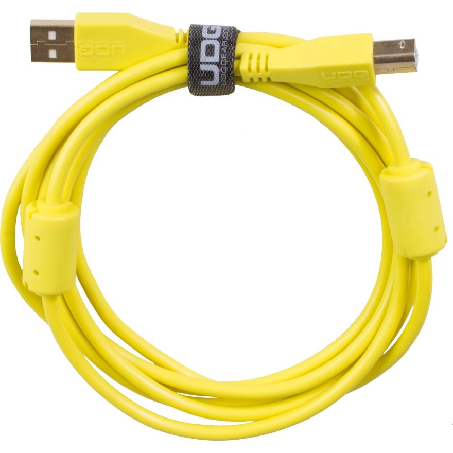 Udg U95002YL - ULTIMATE CAVO USB 2.0 A-B YELLOW STRAIGHT 2M Cavo usb