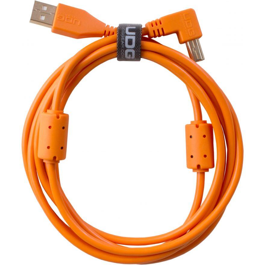 Udg U95006OR - ULTIMATE CAVO USB 2.0 A-B ORANGE ANGLED 3M