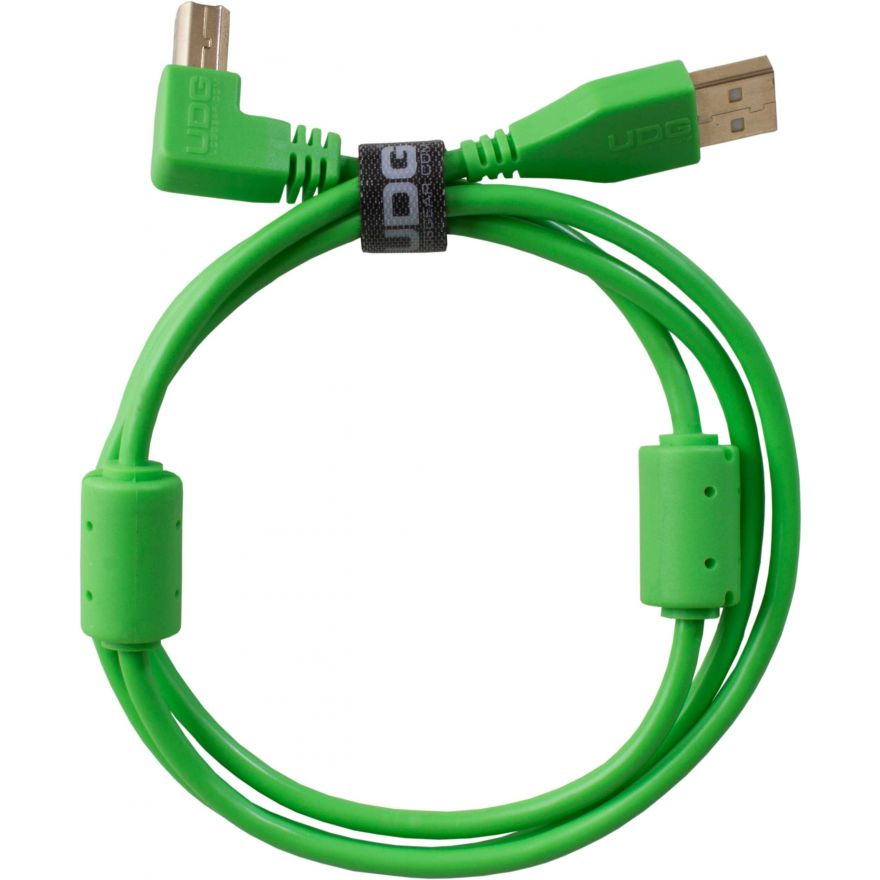 Udg U95006GR - ULTIMATE CAVO USB 2.0 A-B GREEN ANGLED 3M Cavo usb