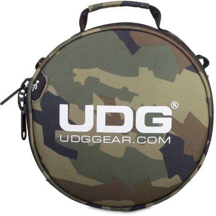 Udg U9950BC/OR - ULTIMATE DIGI HEADPHONE BAG BLACK CAMO, ORANGE INSIDE Custodia / borsa per attrezzature da dj