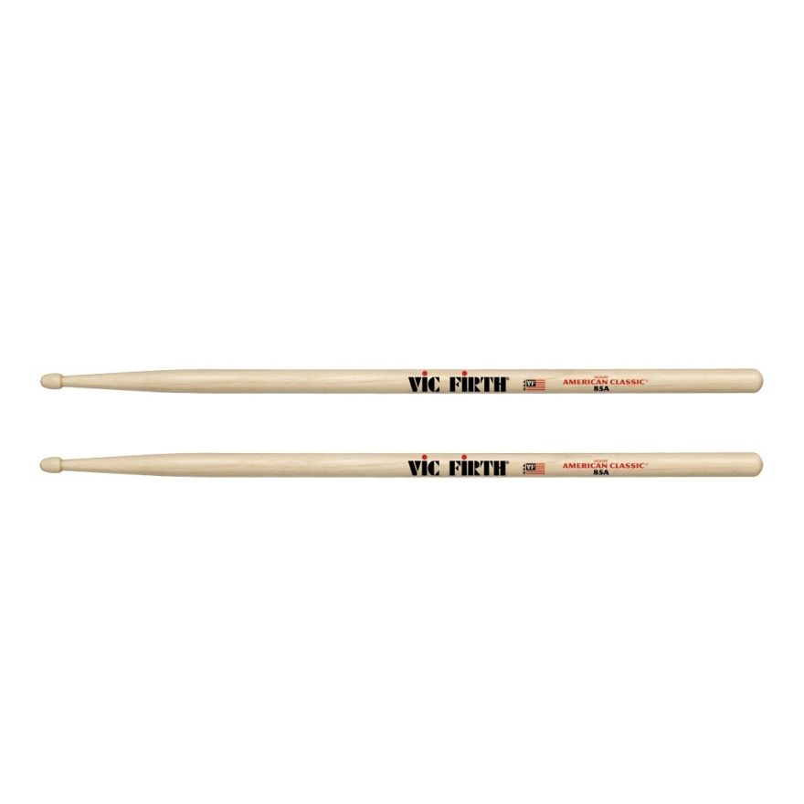 VIC FIRTH 85A - Bacchette American Classic Hickory Punta in Legno