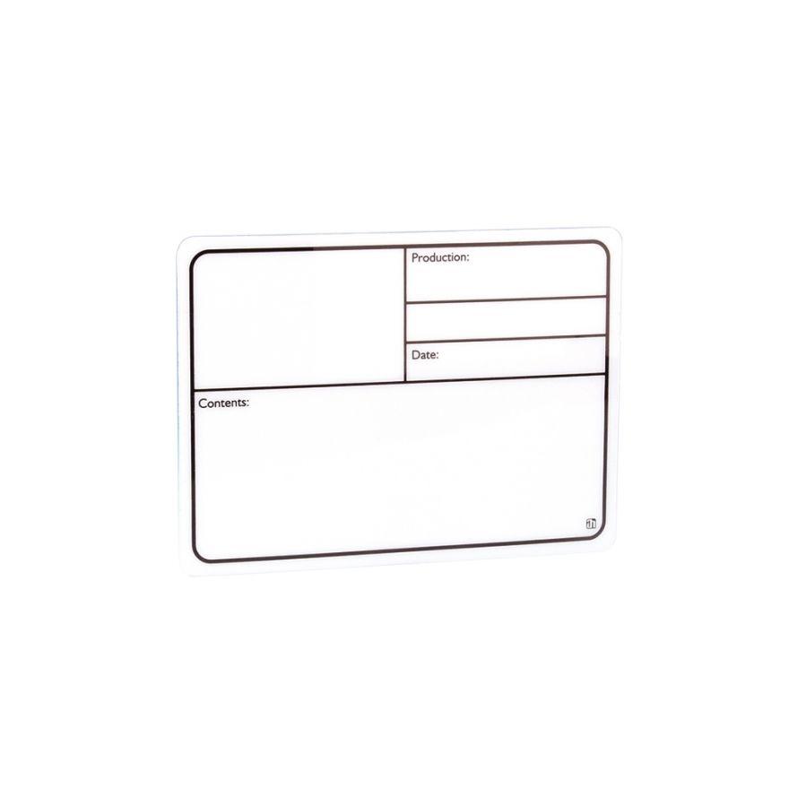 Adam Hall Hardware 88000 - Targhetta Scrivibile in plastica bianca autoadesiva 130 x 85mm
