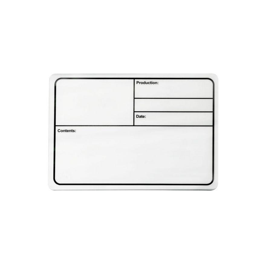 Adam Hall Hardware 88001 M - Targhetta di identificazione di plastica magnetica bianca 177 x 127 mm