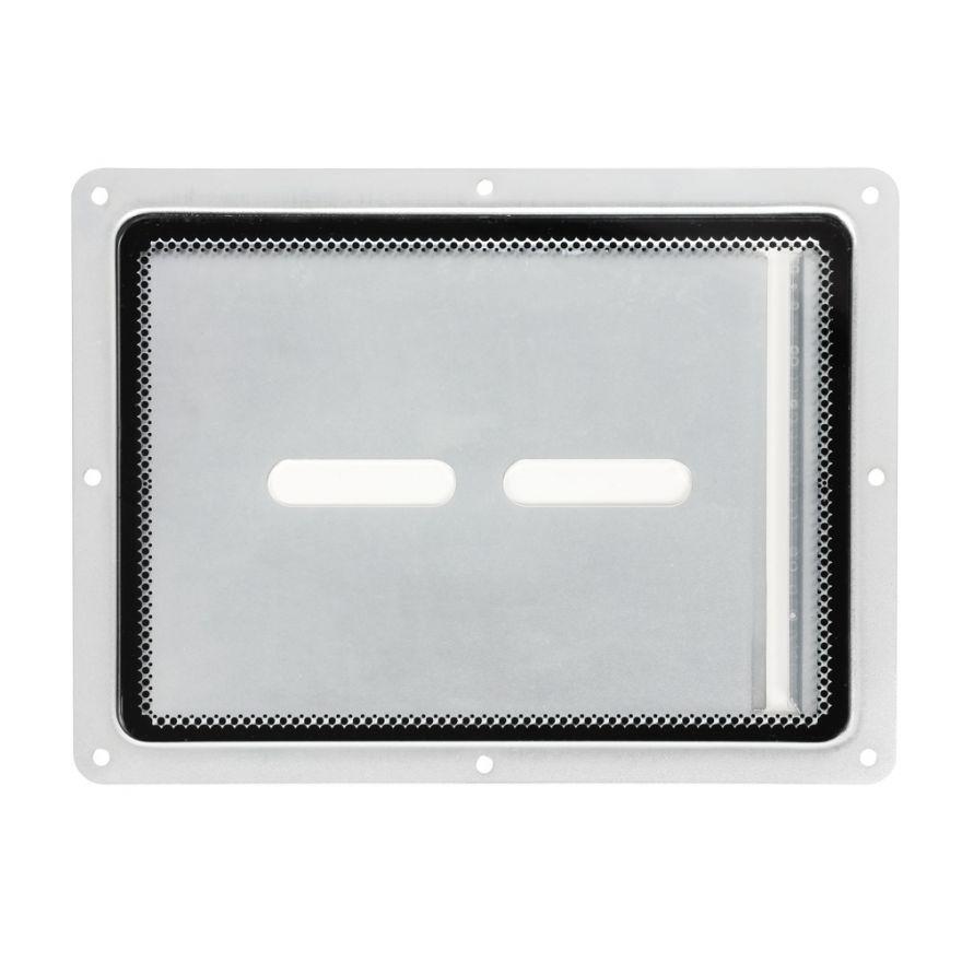 Adam Hall Hardware 88200 - Piatto di montaggio con inserto in plexiglass