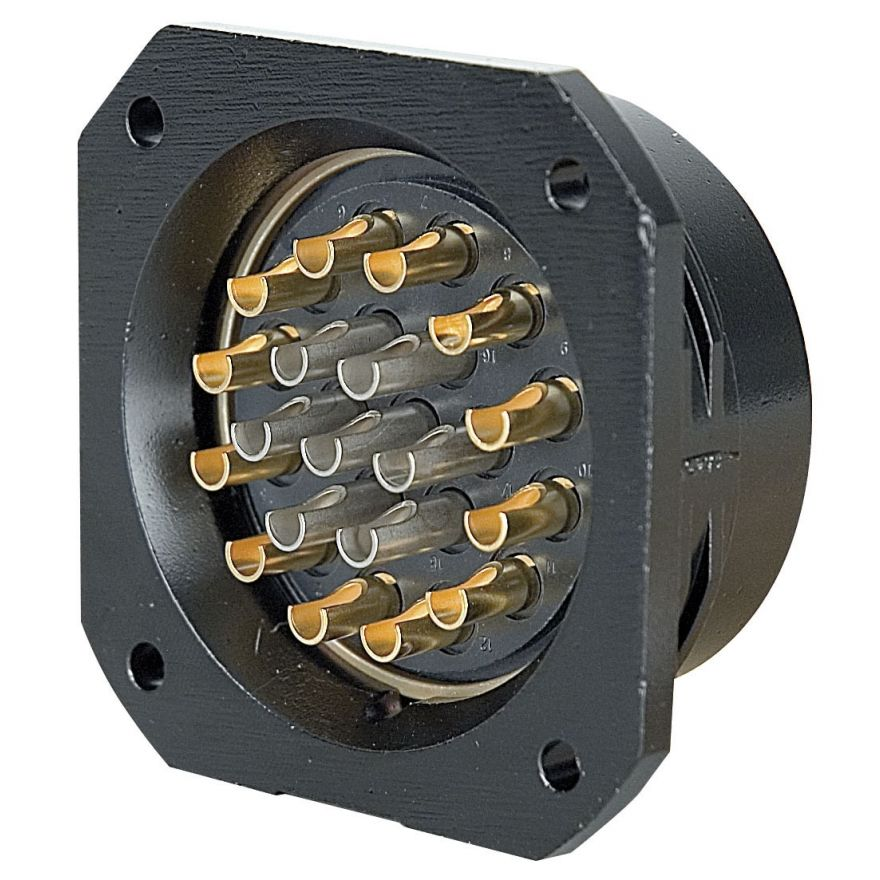 Showtec - Socapex 19 Pin female chassis connector - Powerdistribution