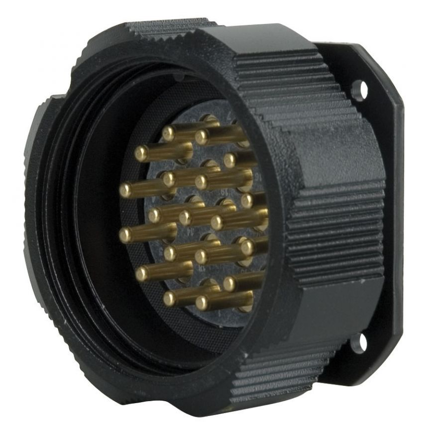 Showtec - Socapex 19 Pin male chassis connector - Powerdistribution