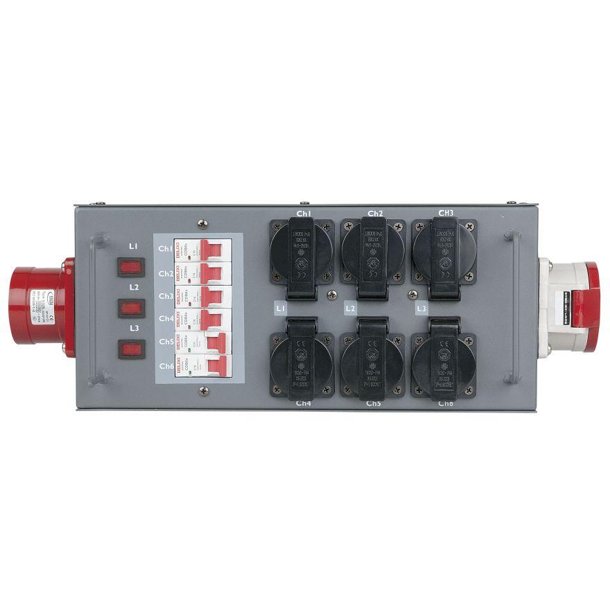 Showtec - Split Power 32 - Distributore di potenza con fusibile