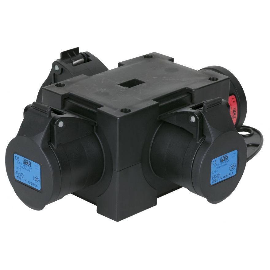 Showtec - Powersplit 4 CEE 16A - 3x CEE a 3 poli