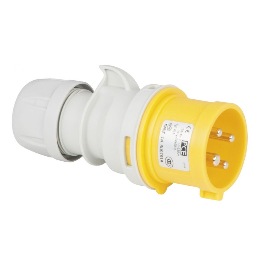 PCE - CEE 16A 110V 4p Plug Male - Giallo, IP44