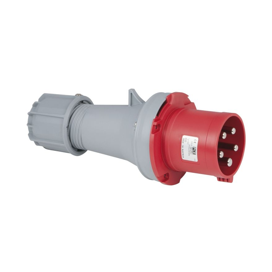 PCE - CEE 63A 400V 5p Plug Male - Rosso, IP44