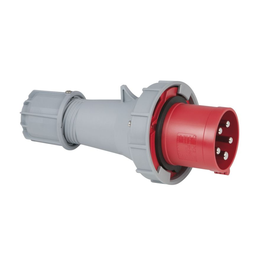 PCE - CEE 63A 400V 5p Plug Male - Rosso, IP67