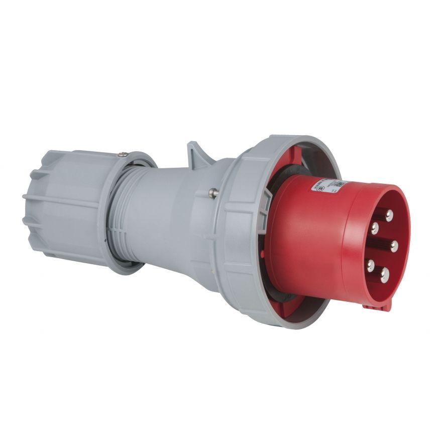 PCE - CEE 125A 400V 5p Plug Male - Rosso, IP67