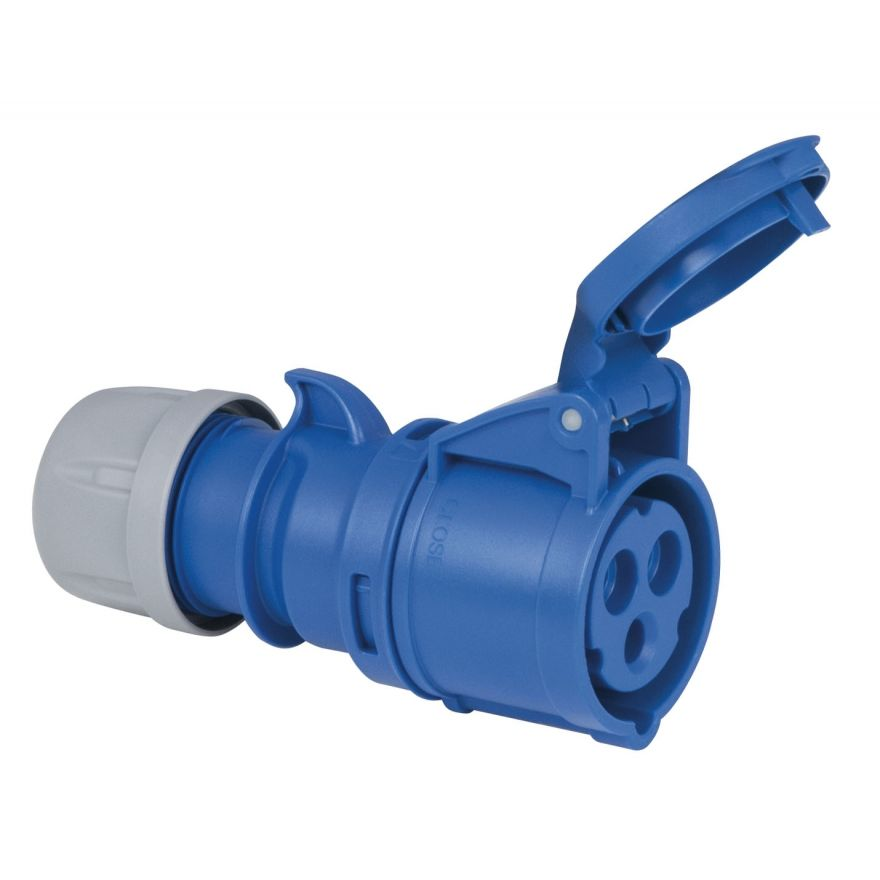 Showtec - CEE 16A 240V 3p Plug Female - Blu, IP44