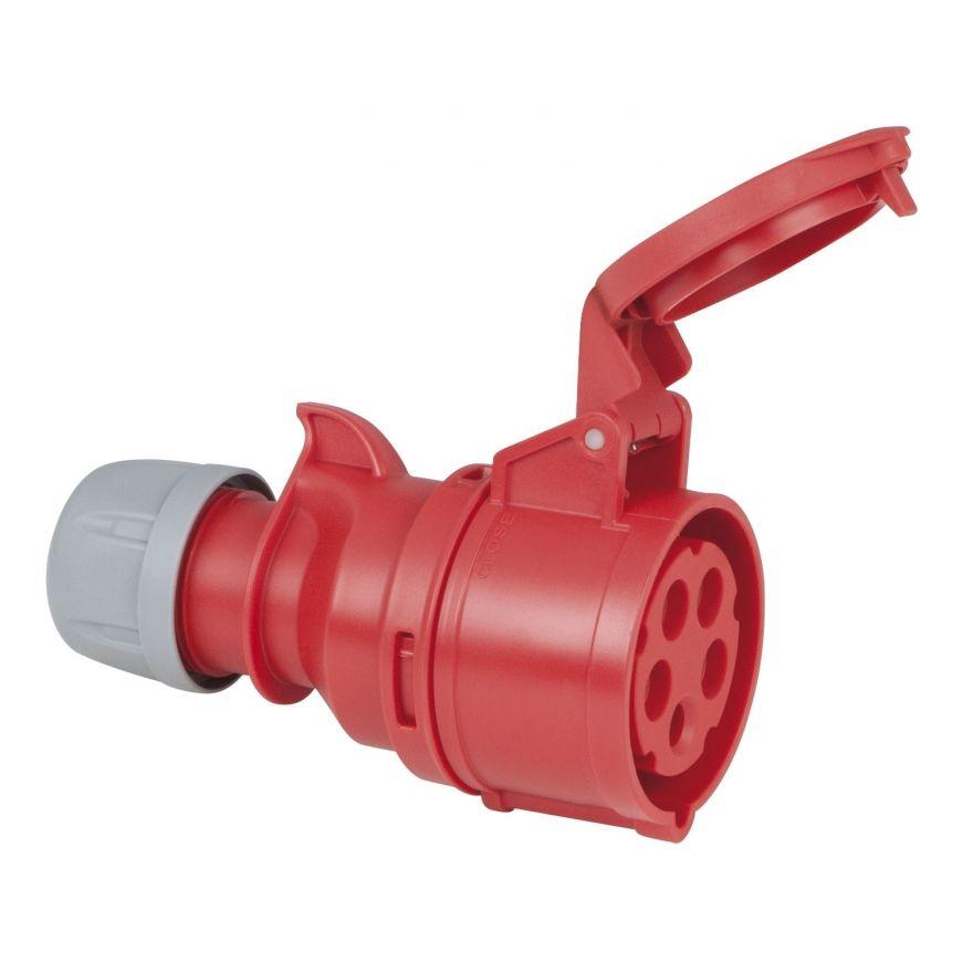 PCE - CEE 16A 400V 5p Plug Female - Rosso, IP44