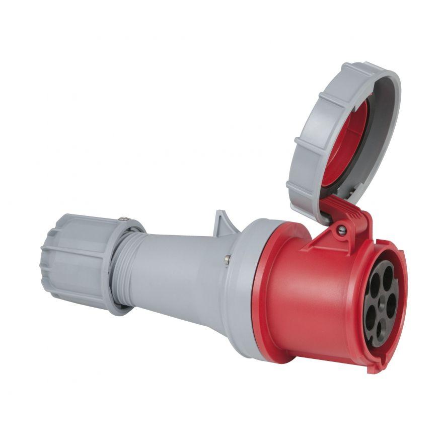 PCE - CEE 63A 400V 5p Plug Female - Rosso, IP67