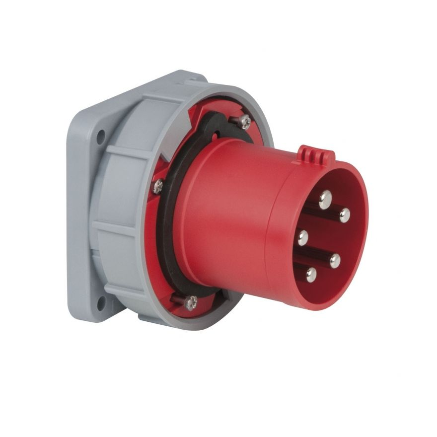 PCE - CEE 63A 400V 5p Socket Male - Rosso, IP67