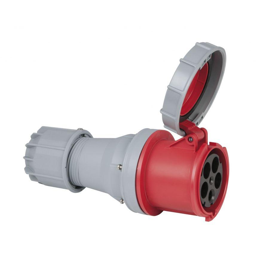 PCE - CEE 125A 400V 5p Plug Female - Rosso, IP67