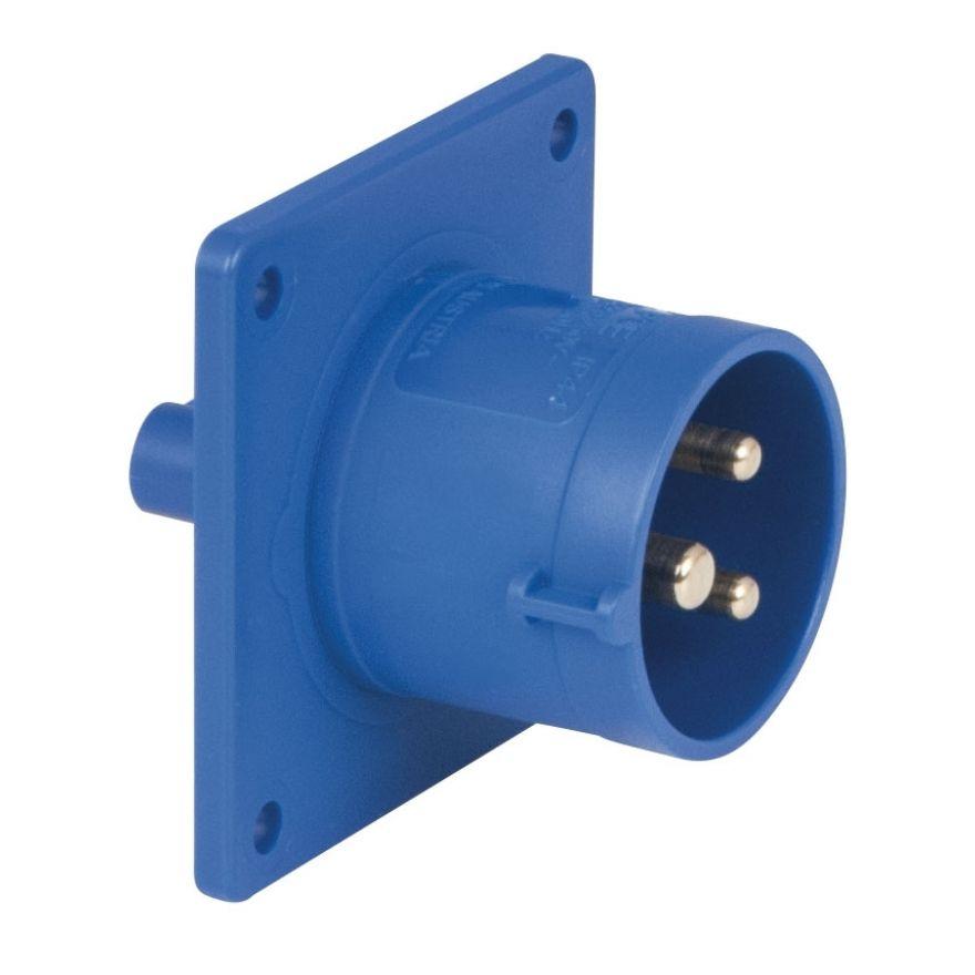Showtec - CEE 16A 240V 3p Socket Male - Blu, IP44