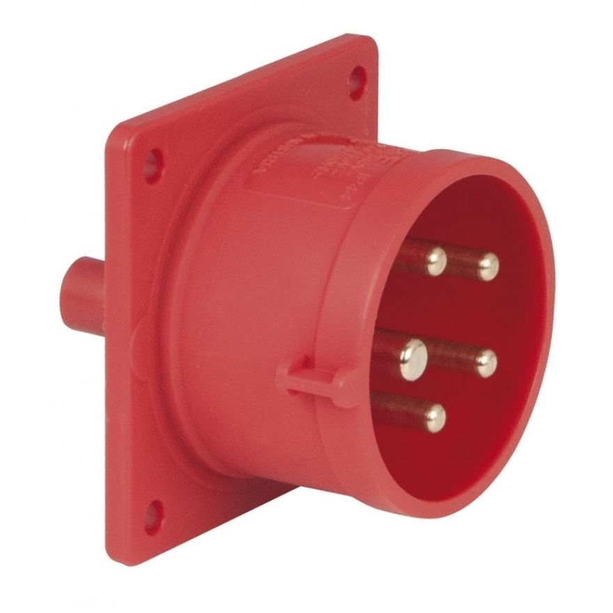 PCE - CEE 16A 400V 5p Socket Male - Rosso, IP44