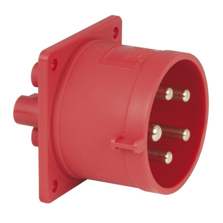 PCE - CEE 32A 400V 5p Socket Male - Rosso, IP44