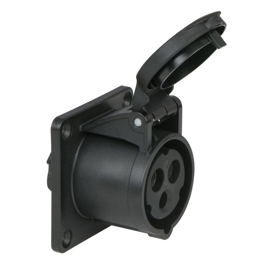 Showtec - CEE 16A 240V 3p Socket Female - Nero, IP44
