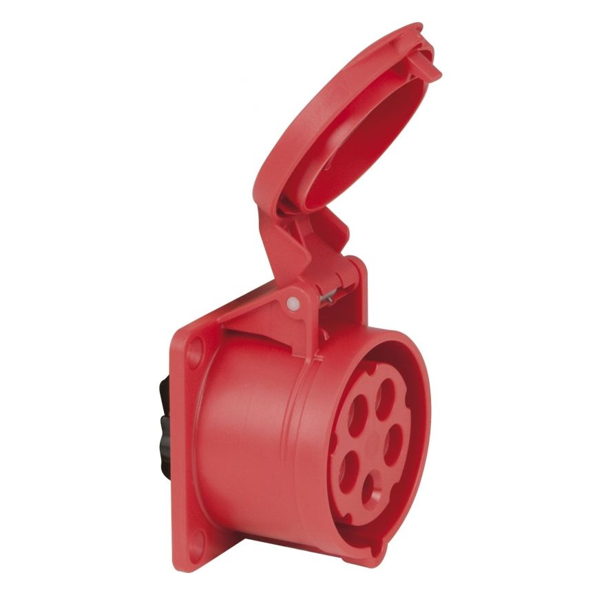 PCE - CEE 16A 400V 5p Socket Female - Rosso, IP44