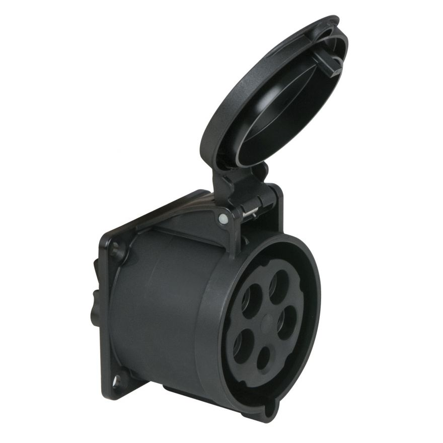 PCE - CEE 32A 400V 5p Socket Female - Nero, IP44