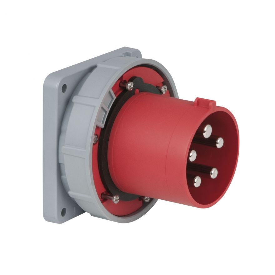 PCE - CEE 125A 400V 5p Socket Male - Rosso, IP67