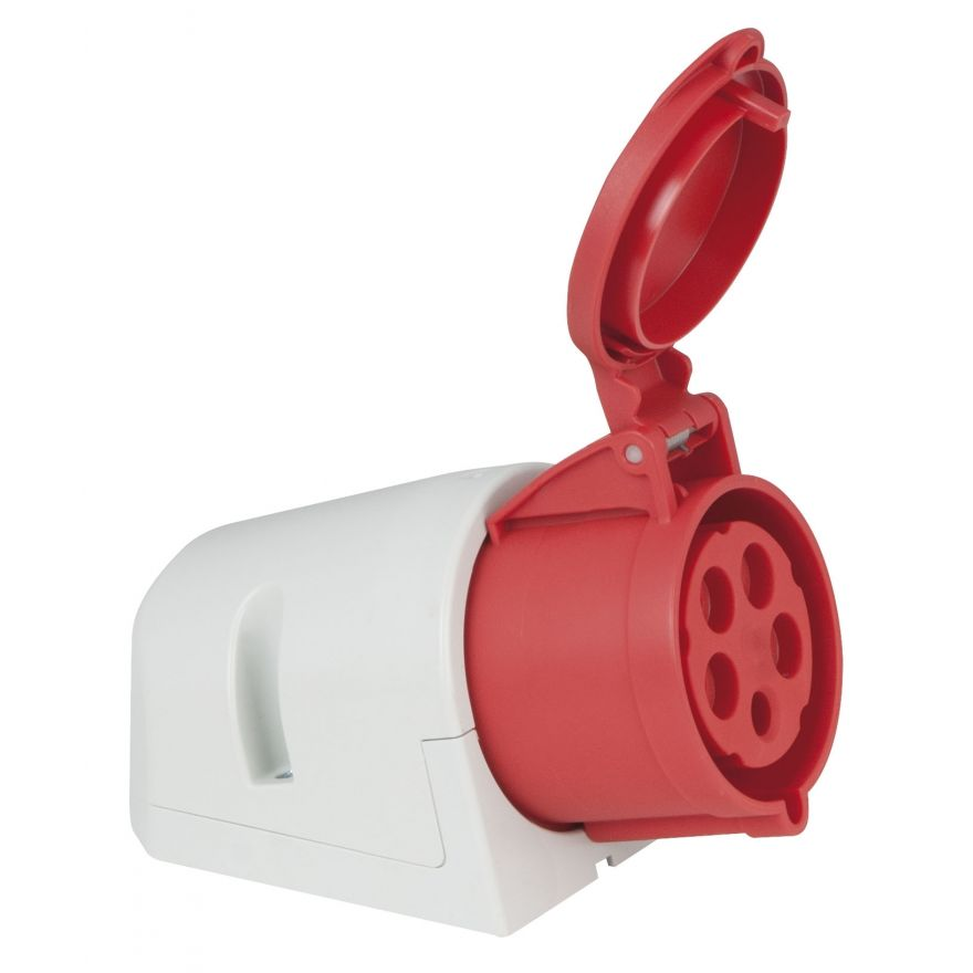 PCE - CEE 32A 400V 5p Wallmount Female - Rosso, IP44