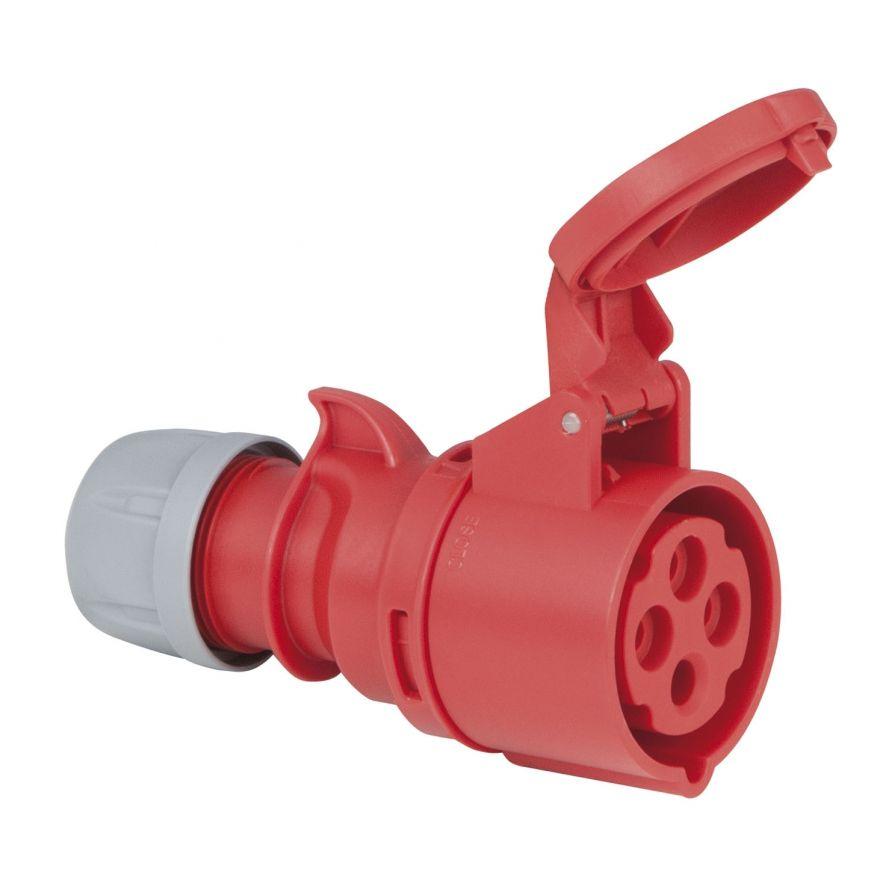PCE - CEE 16A 400V 4p Plug Female - Rosso, IP44