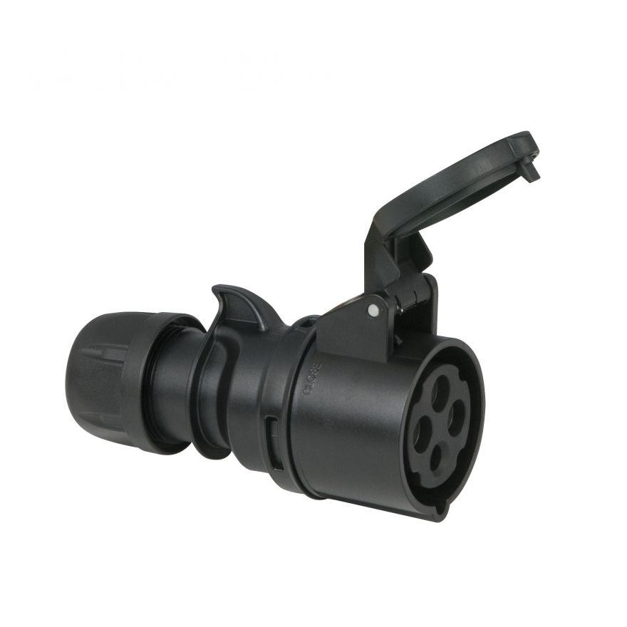 PCE - CEE 16A 400V 4p Plug Female - Nero, IP44