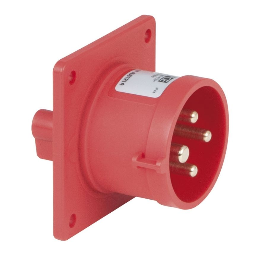 PCE - CEE 16A 400V 4p Socket Male - Rosso, IP44