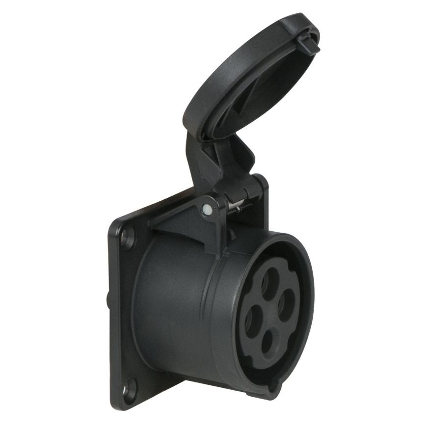 PCE - CEE 16A 400V 4p Socket Female - Nero, IP44
