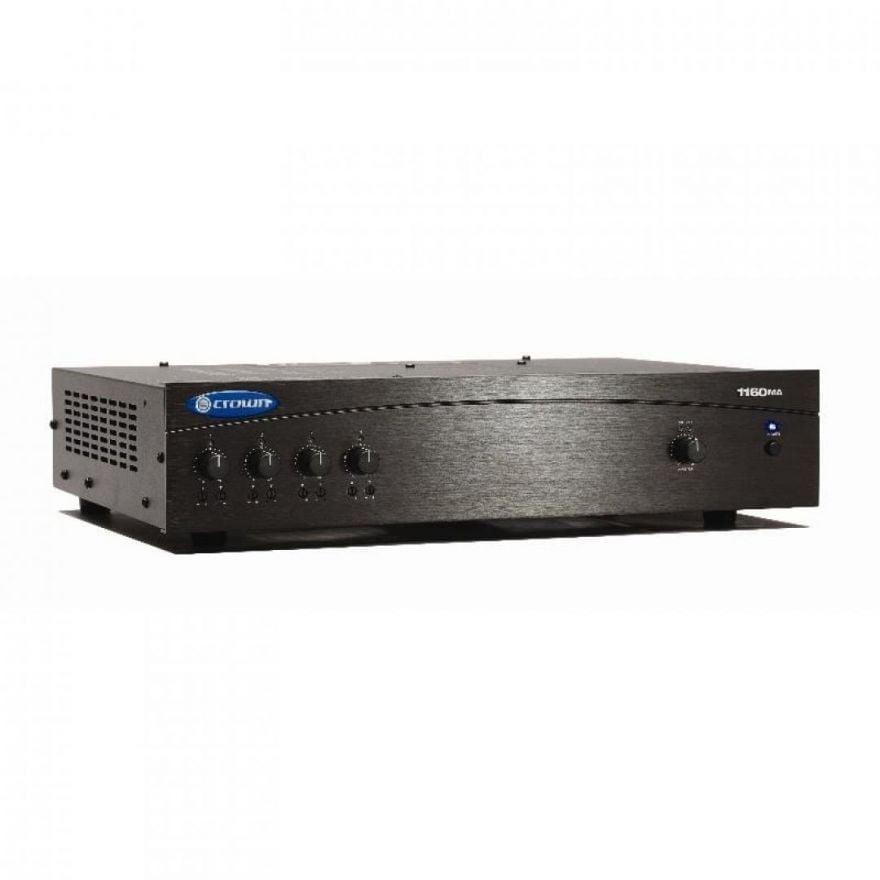CROWN 1160MA Mixer amplificatore singolo canale, 160 W/4 Ohm, 70V/100V