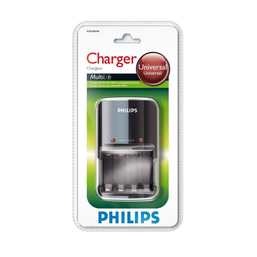 PHILIPS - Caricatore batterie AA e AAA