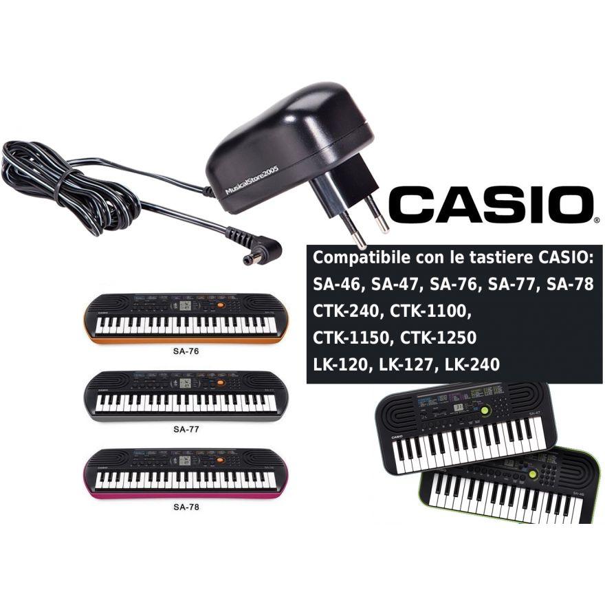 Casio Alimentatore per Tastiere Casio Serie SA / CTK / LK