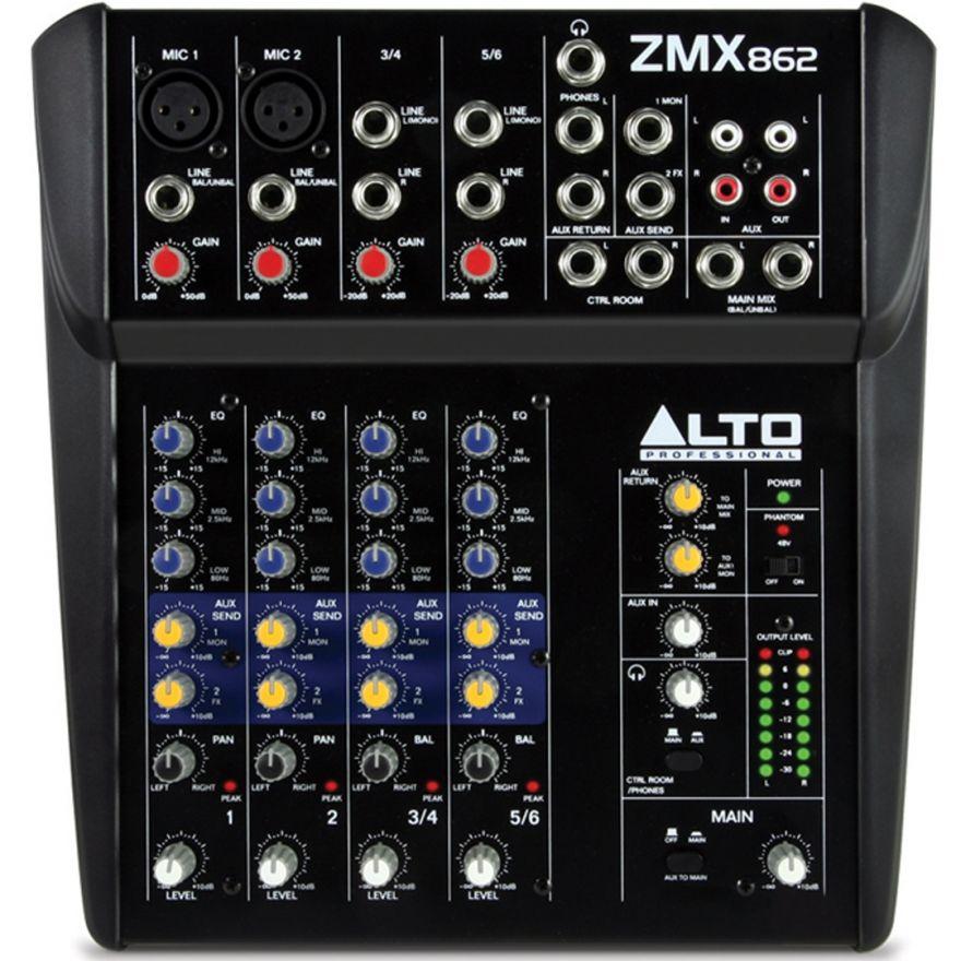 Alto Professional Zephyr ZM862 - Mixer Audio Passivo 4 Ch per Karaoke