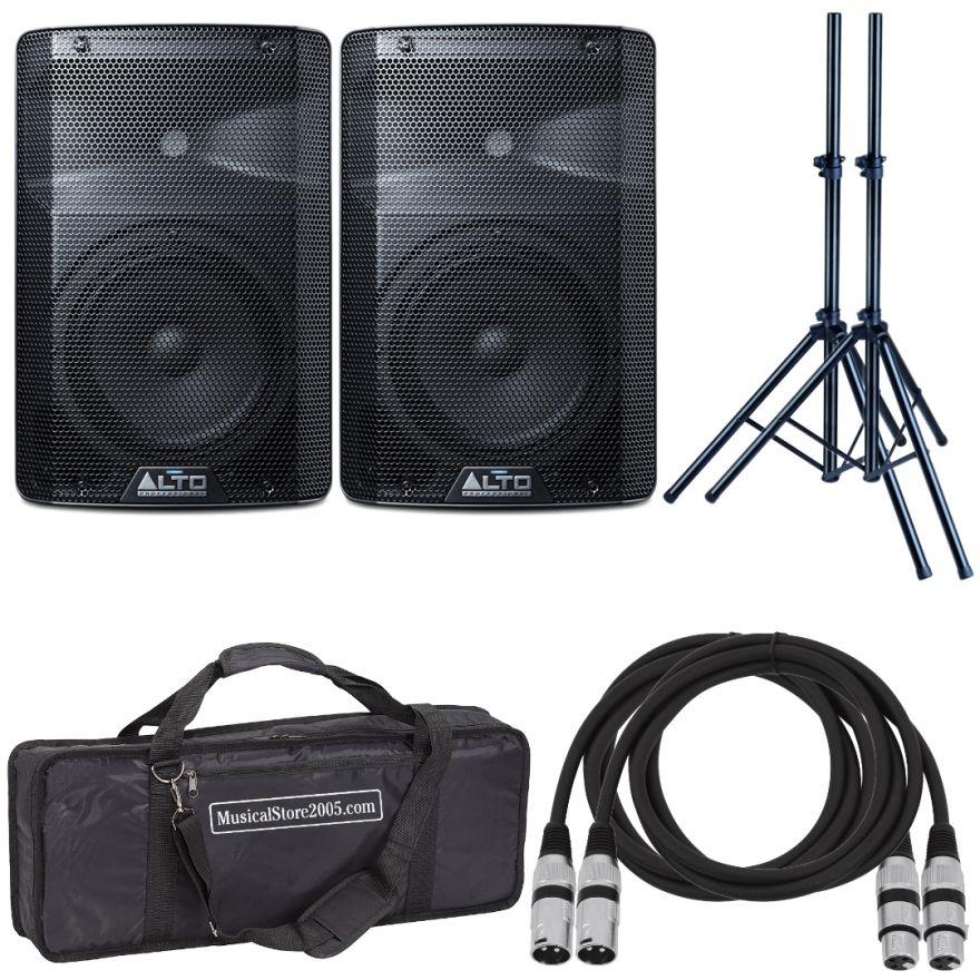 Alto TX208 (Coppia) - Cassa Amplificata DJ Attiva Impianto Karaoke Completo Professionale