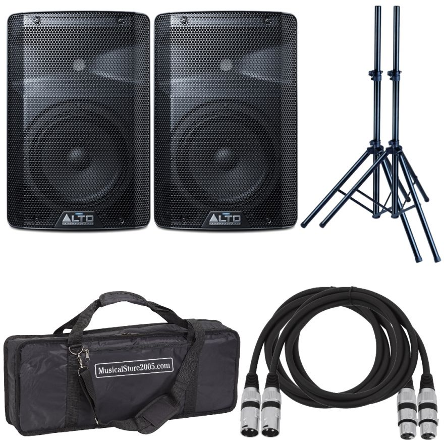 Alto TX215 (Coppia) - Cassa Amplificata DJ Attiva Impianto Karaoke Completo Professionale