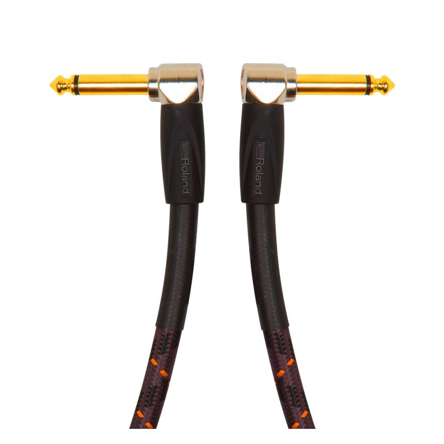 ROLAND Cavo Patch Serie Gold Jack Angolato / Jack Angolato 15cm