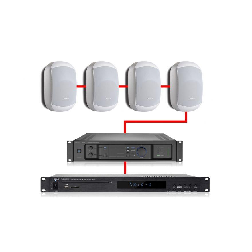 APART Impianto Audio Retail Bianco 240W
