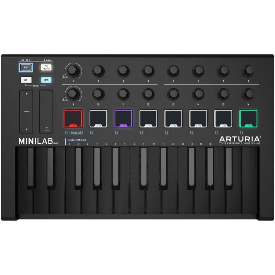 Arturia MiniLab MKII Deep Black - Controller 25 Tasti