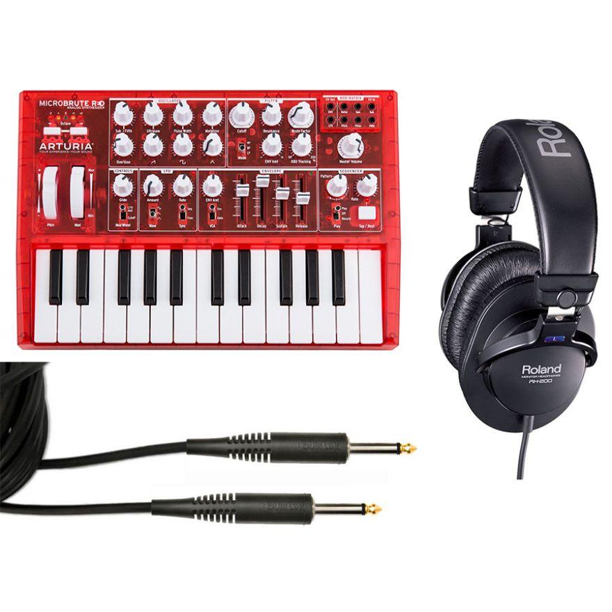 Producer Pack MicroBrute 25 Tasti / Cuffia / Cavo Audio Jack/Jack Bundle
