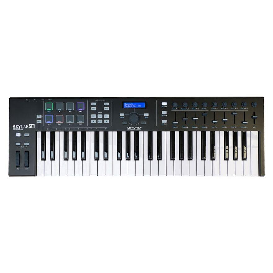 Arturia KeyLab 49 Essential BE- Controller a Tastiera MIDI/USB 49 Tasti Nera