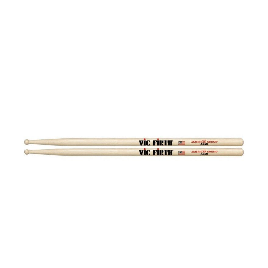 VIC FIRTH AS5B - Bacchette American Sound Hickory Punta in Legno