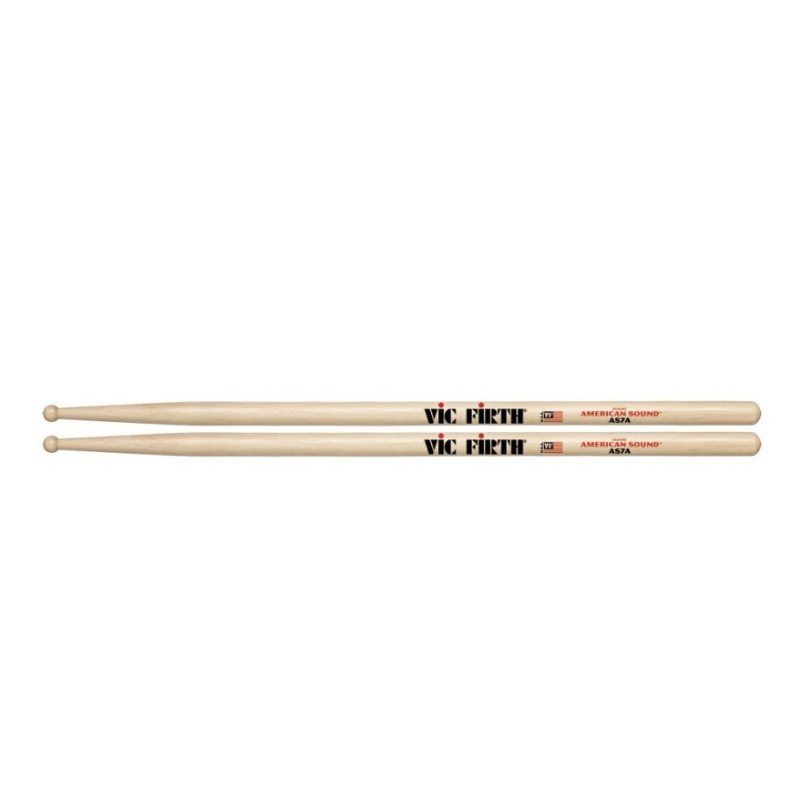 VIC FIRTH AS7A - Bacchette American Sound Hickory Punta in Legno