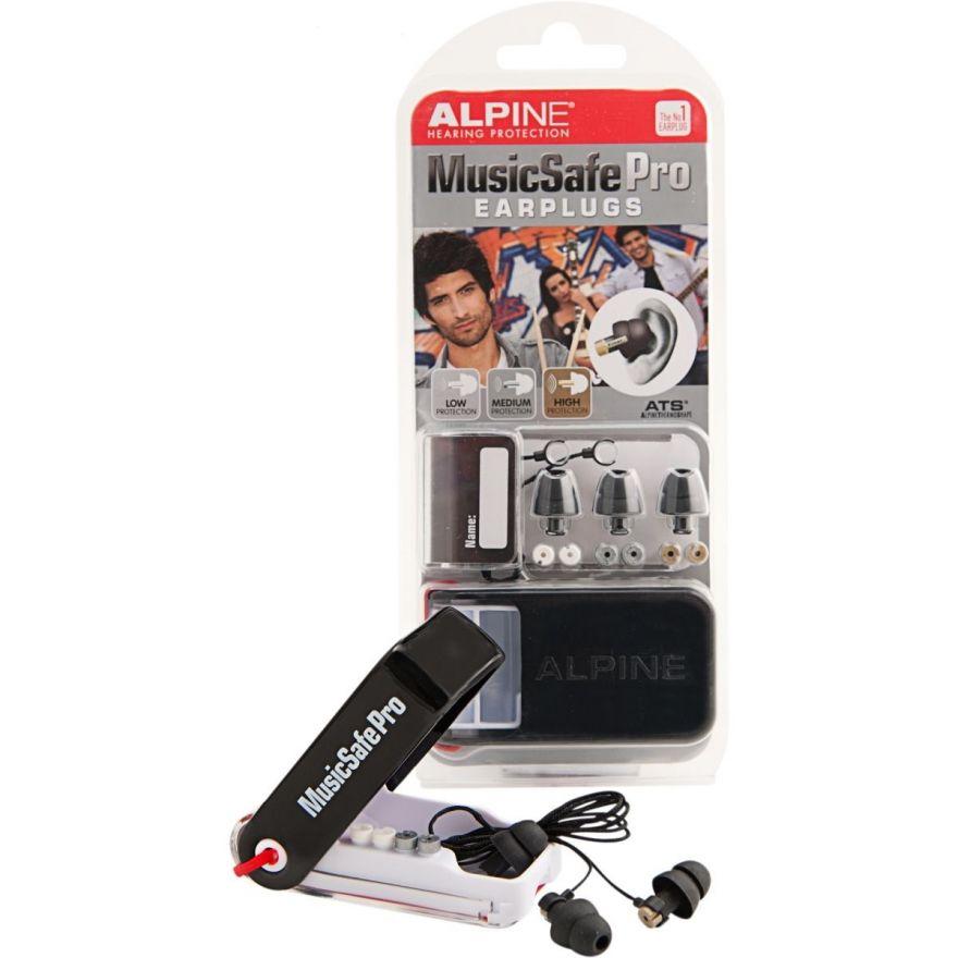 Kit auricolari per protezione uditiva con 3 filtri attenuazione - Black Edition 2014